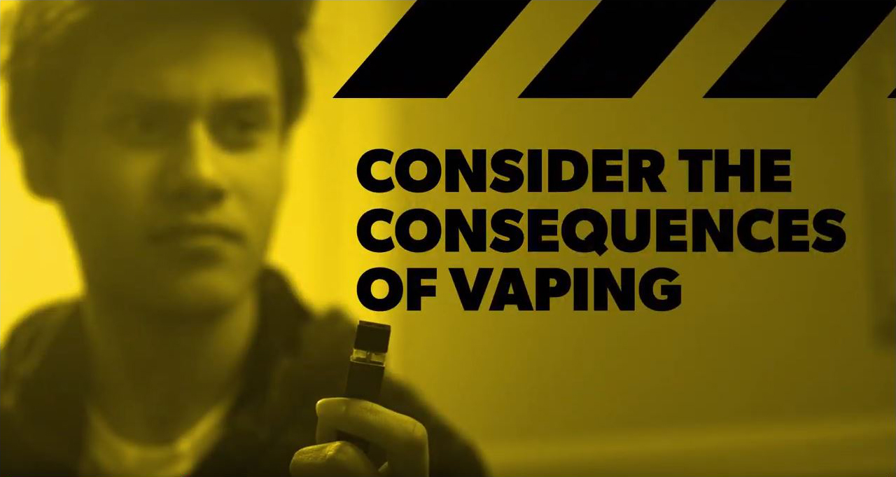 Page with copy on vaping